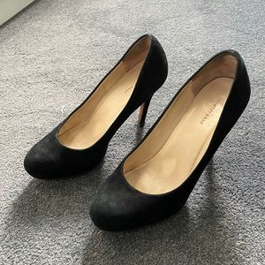 Country Road Black Suede Heels - Size 36